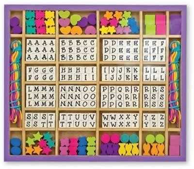 Melissa & Doug Deluxe Wooden Stringing Beads