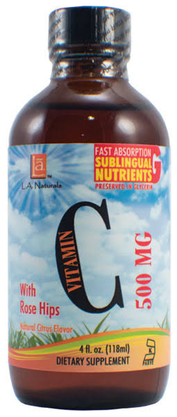 L A Naturals Liquid Vitamin C Dietary Supplement - 500mg, 4oz