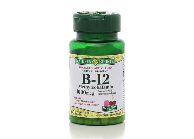 Nature's Bounty B-12 Methylcobalamin Supplement - 1000mcg, 60 Quick Dissolve Tablets