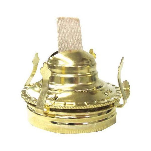 21st Century L27PB Mason Jar Oil Lamp Burner - Antique Brass, 3""