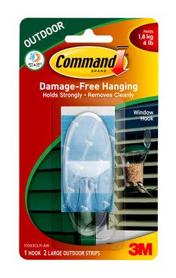 3M Command Outdoor Large Window Hook - Clear, 1pk