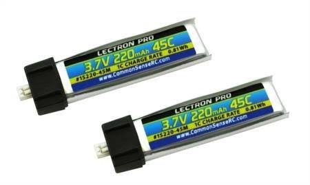 Lectron Pro 3.7V 220mah 45C Lipo Battery - 2 Pack