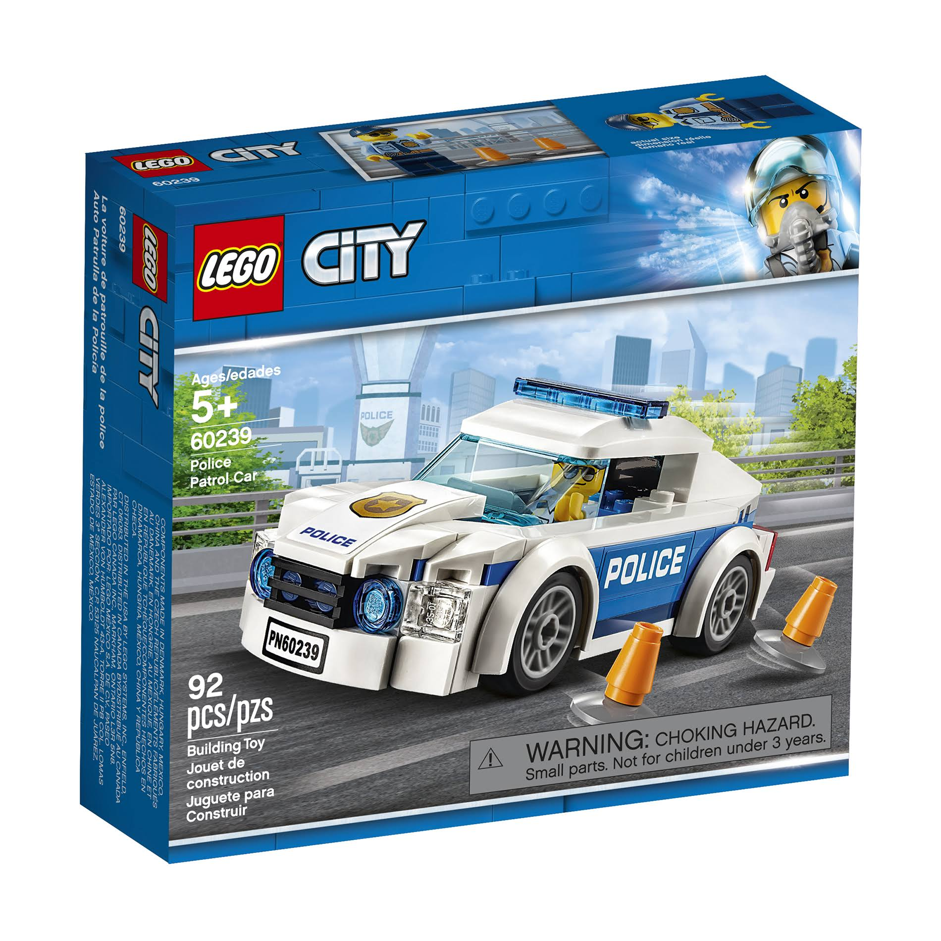 Lego City Building Toy, Police Patrol Car