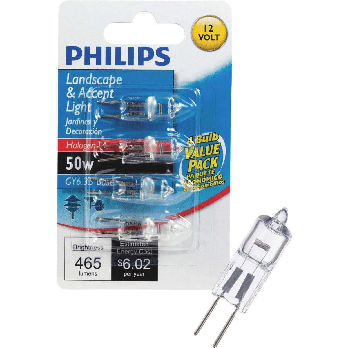 Philips Landscape & Accent Light Bulb - 50W, 12V, T4