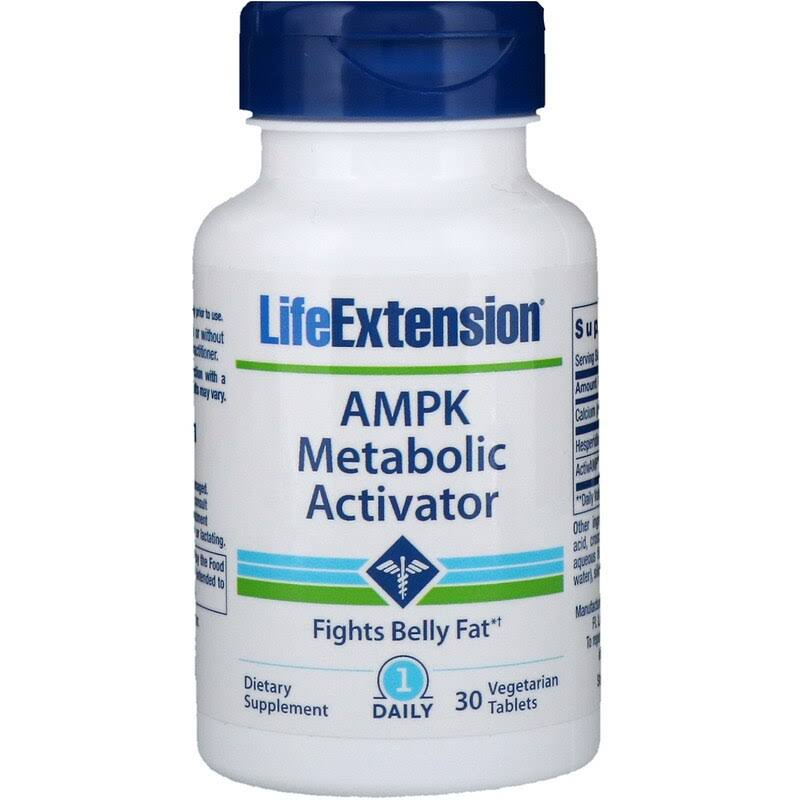 Life Extension AMPK Metabolic Activator, Vegetarian Tablets - 30 tablets