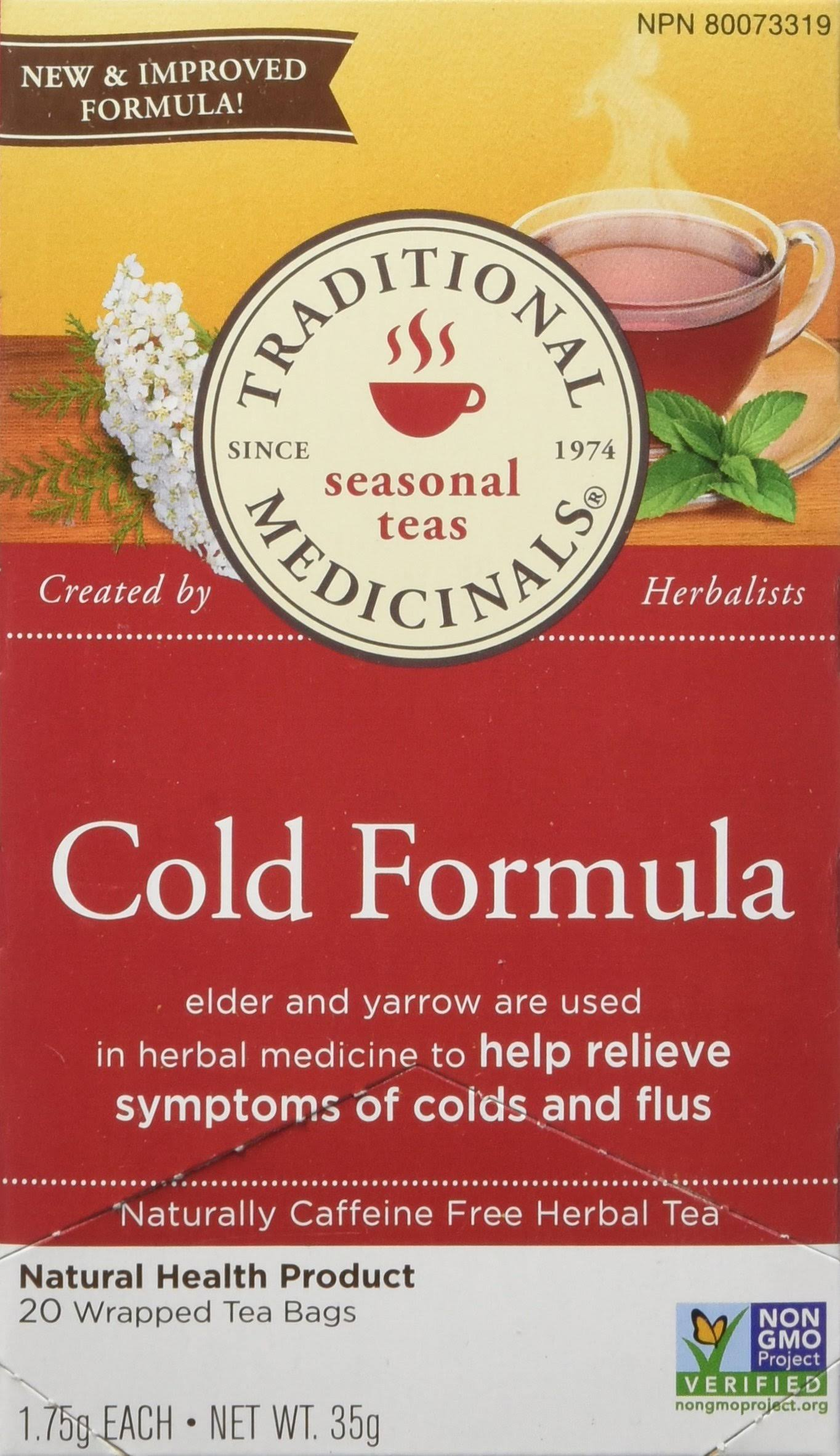 Traditional Medicinals Cold Formula Tea 20 Wrapped