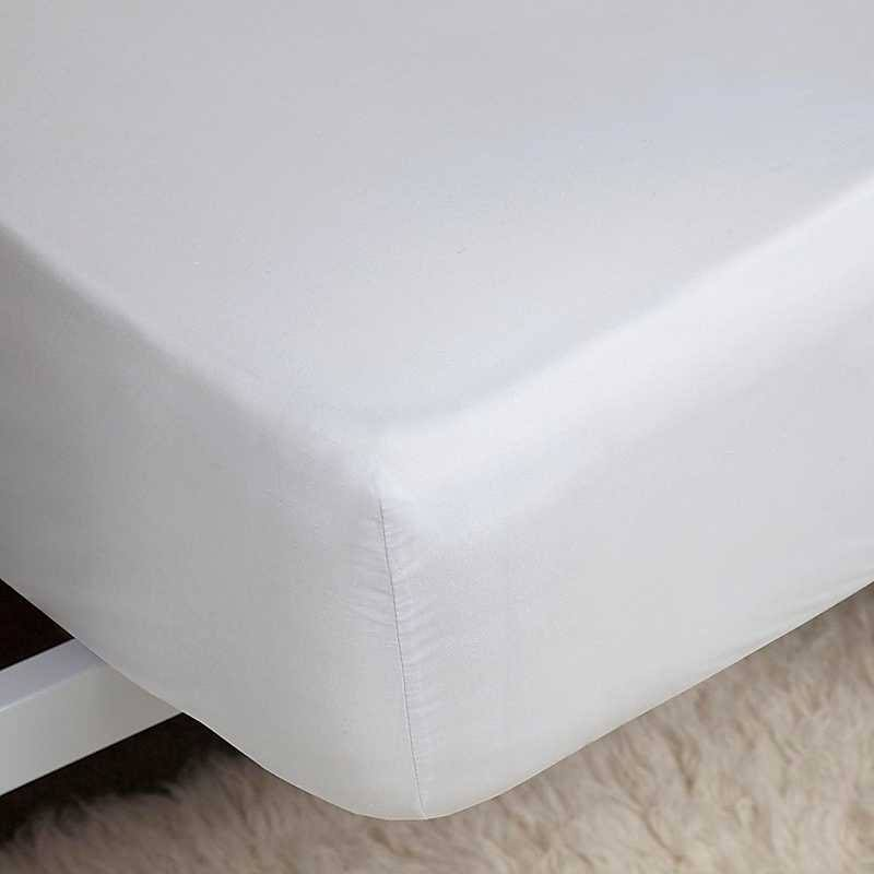 Belledorm 200 Percale Extra Deep Fitted Sheet, White, Double