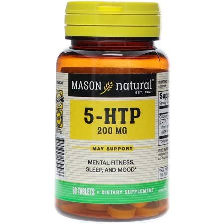 Mason Natural Dietary Supplement 5-HTP 200mg Tablets 30 EA