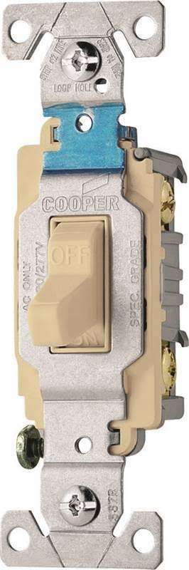 Cooper Wiring Devices Toggle Switch - 15A, 120/277V, Ivory