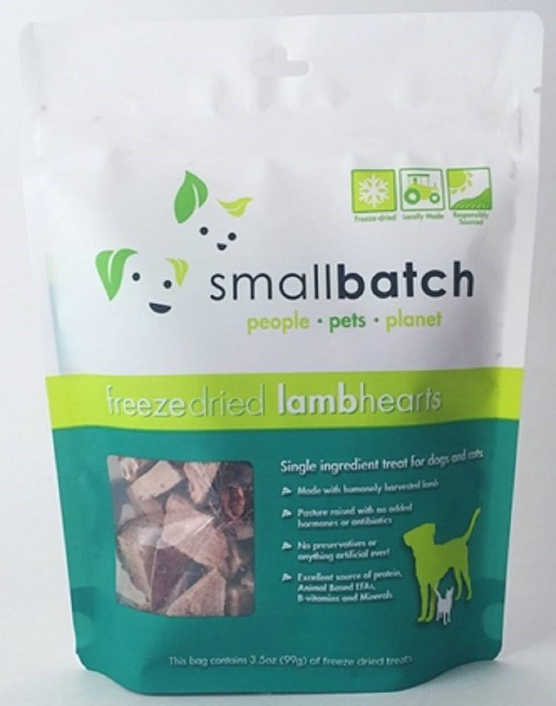 Smallbatch Freeze Dried Heart Treats, Lamb / 3.5 oz