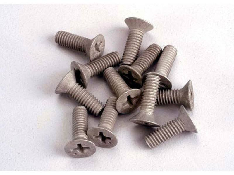 Traxxas 1948 Aluminum Screws 4x12mm (12)