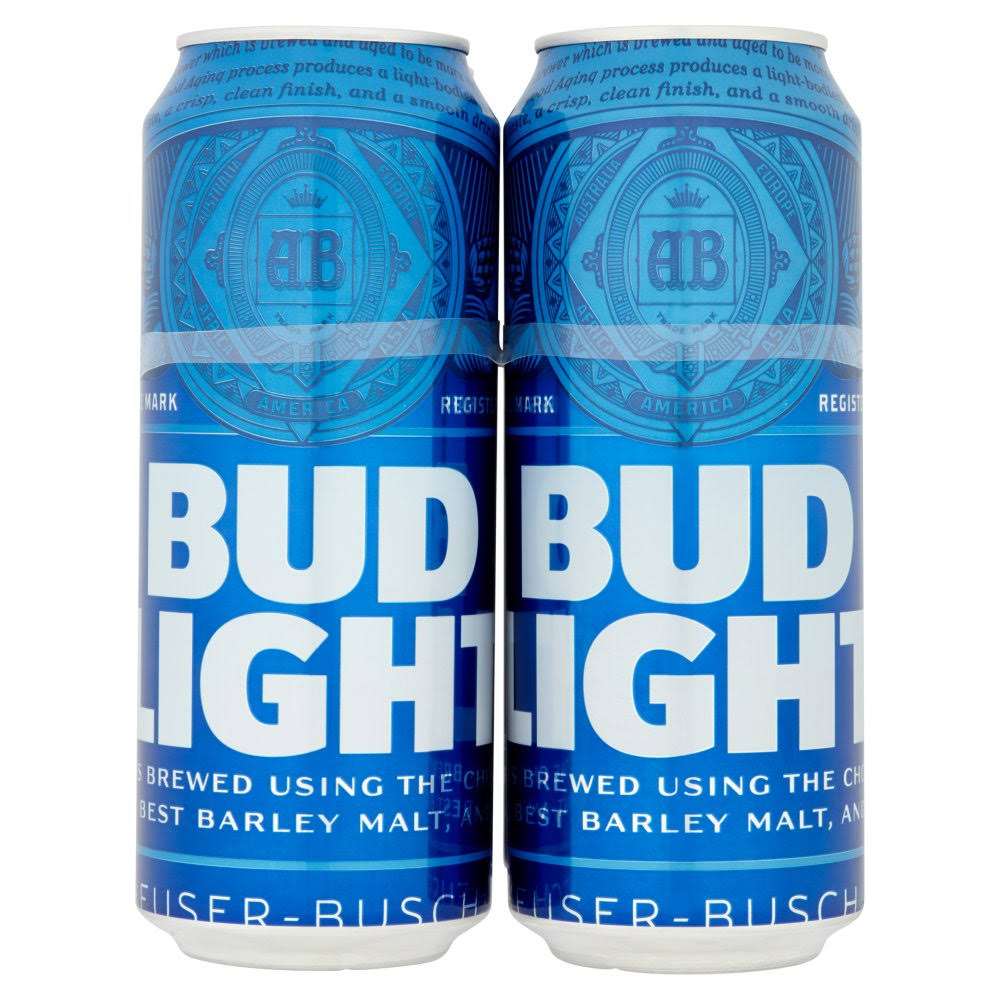 Bud Light Lager Beer - 500ml, 4pk