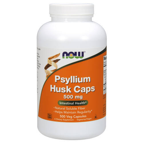 Now Foods Psyllium Husk Caps - 500mg, 500 capsules