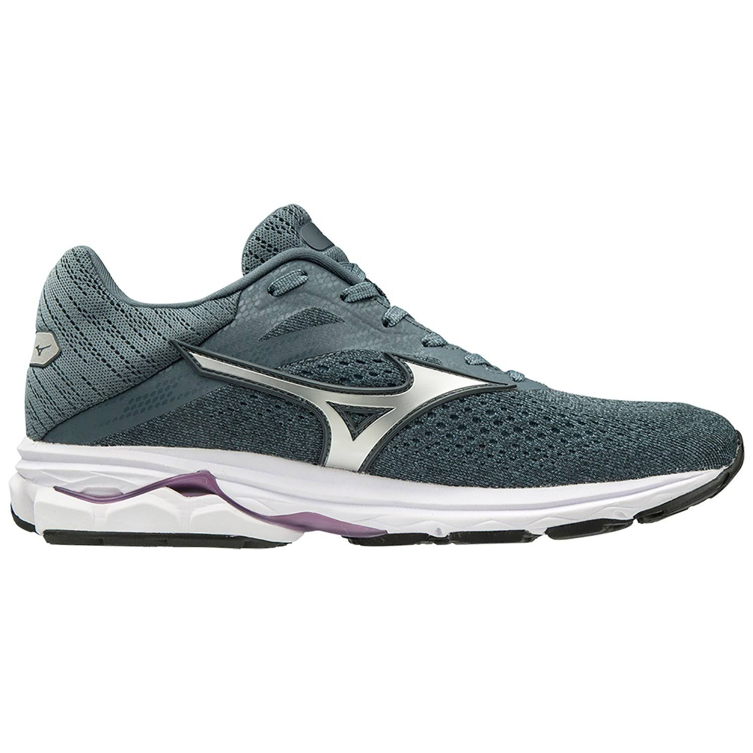 Mizuno Women's Wave Rider 23 Running Shoe - Citadel / Glacier Gray, 8
