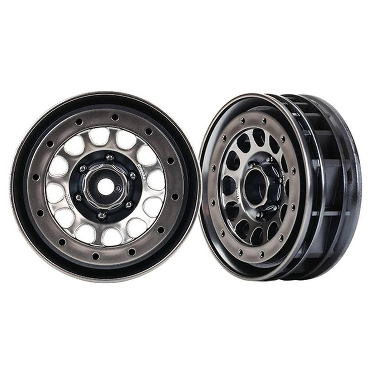 "Traxxas 1.9"" Method 105 Beadlock Wheels Black Chrome TRA8173"
