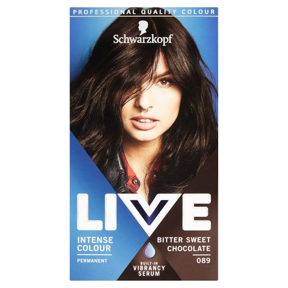 Schwarzkopf Live Intense Colour Permanent Hair Dye - 089 Bitter Sweet Chocolate