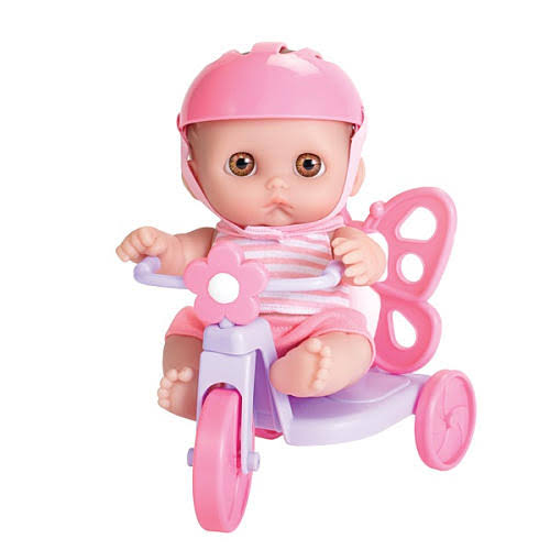 JC Toys Lil' Cutesies Doll with Butterfly Tricycle