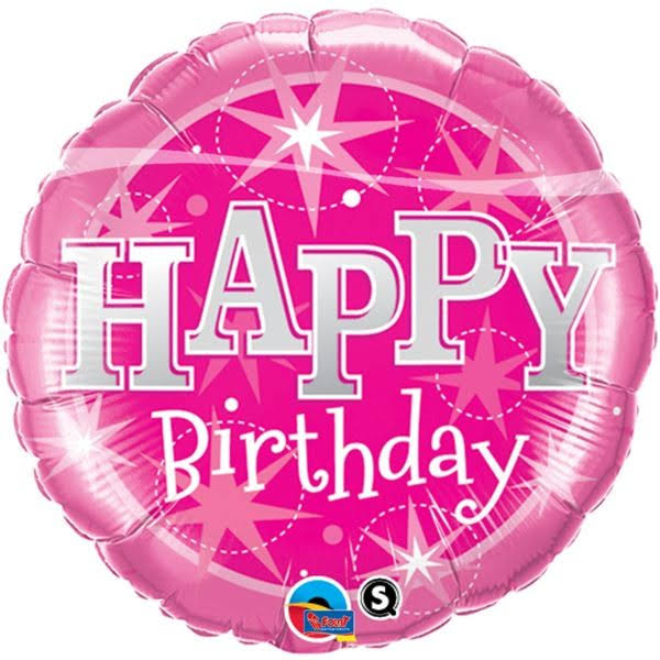 "Happy Birthday Sparkle Foil Balloon - 18"", Pink"