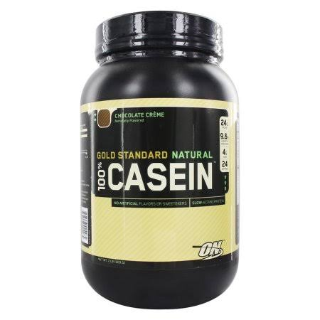 Optimum Nutrition Gold Standard 100% Casein Protein Powder - Chocolate Creme, 2 lb