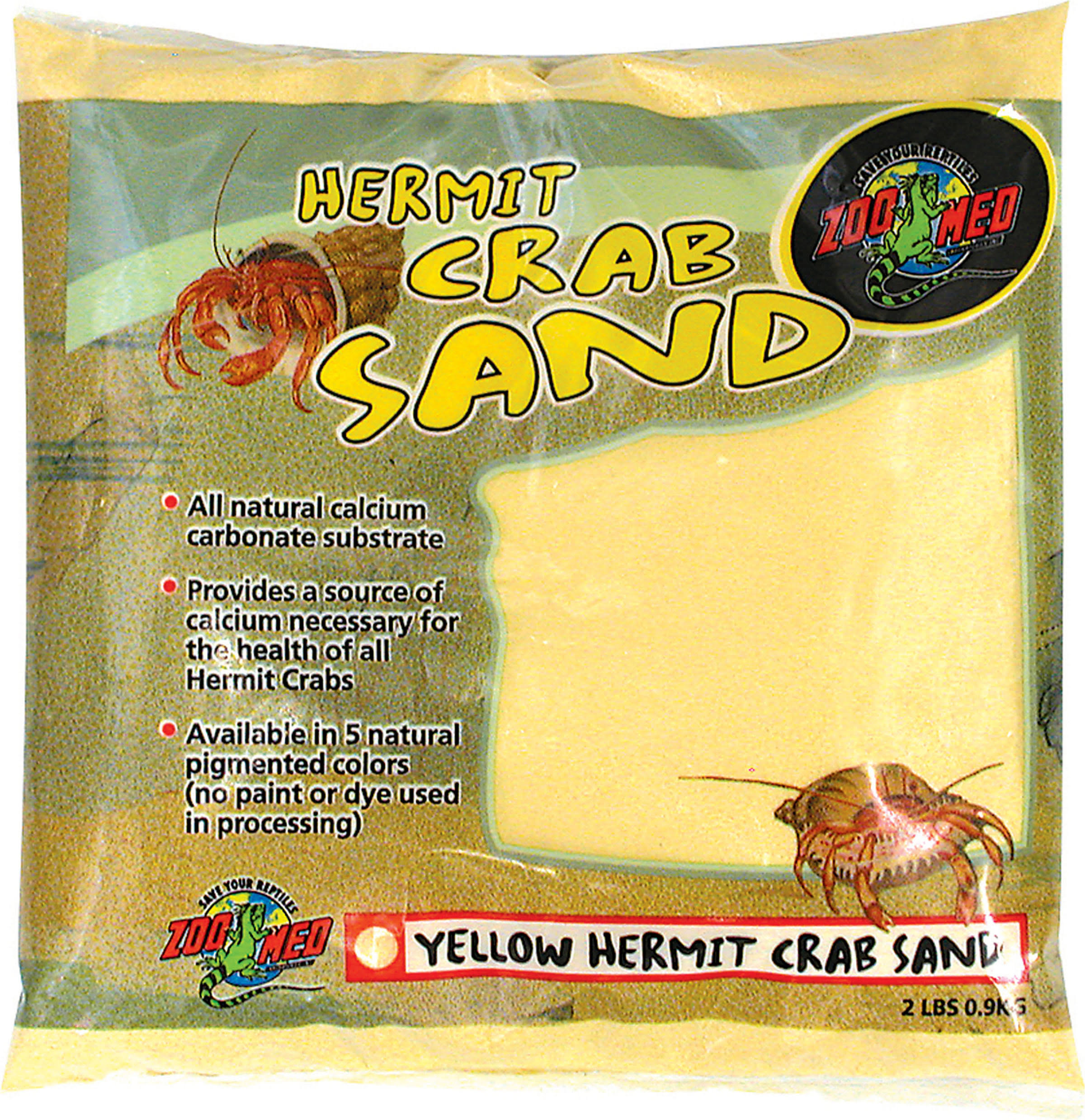 Zoo Med Laboratories Hermit Crab Sand - 2lbs, Sand Yellow