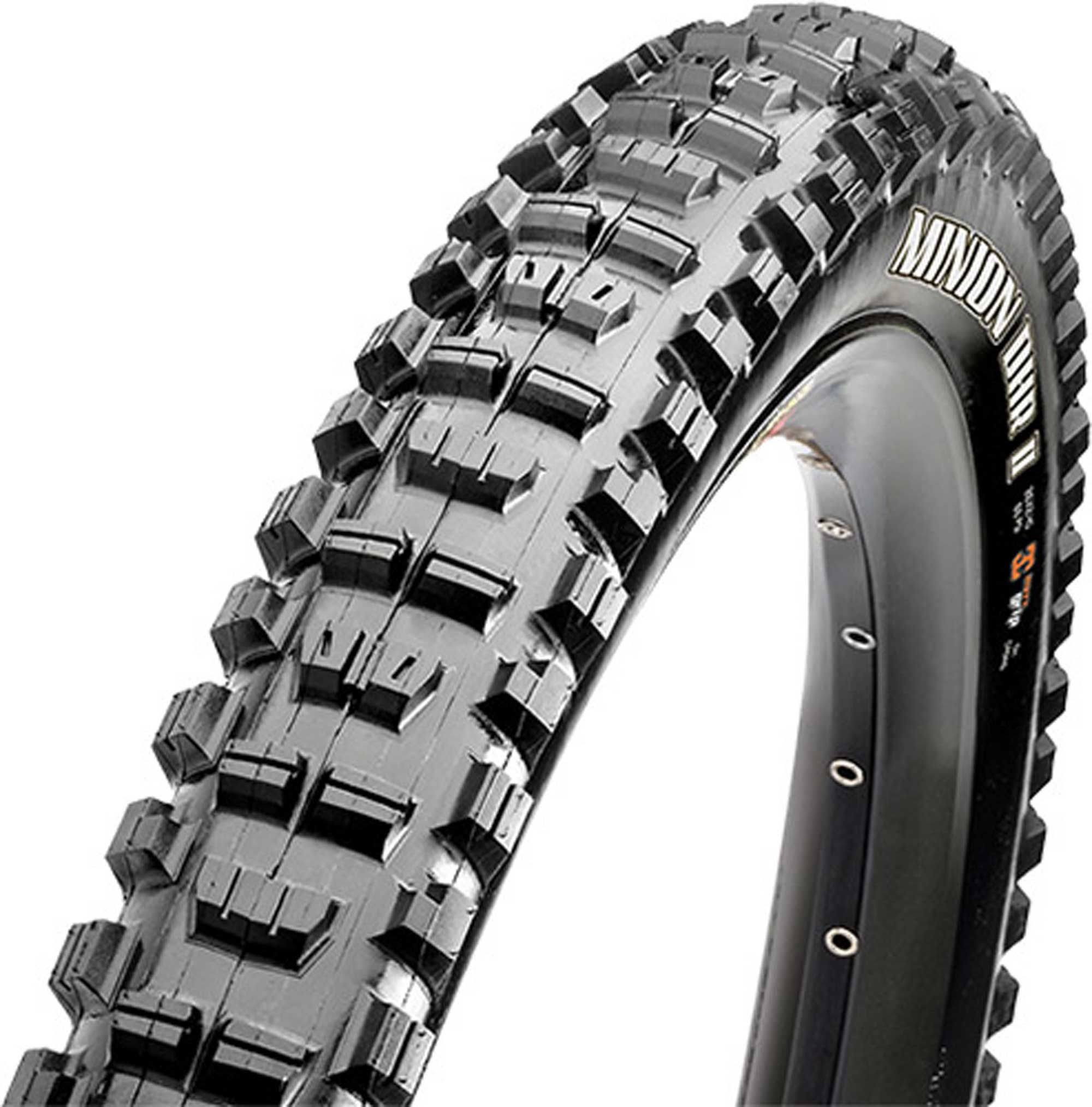"Maxxis EXO 3C Triple Compound MaxxTerra Minion DHR II Tubeless Folding Tire - 27.5"" X 2.3"", Black"