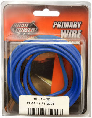 Coleman Cable Primary Wire - Blue, 12 Gauge, 11'