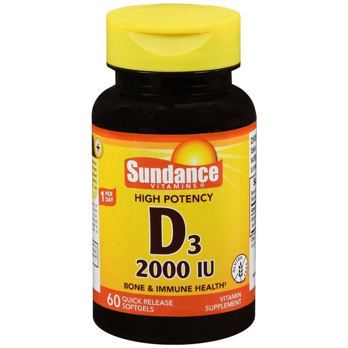 Sundance D3 2000 IU Quick Release Supplement - 60ct