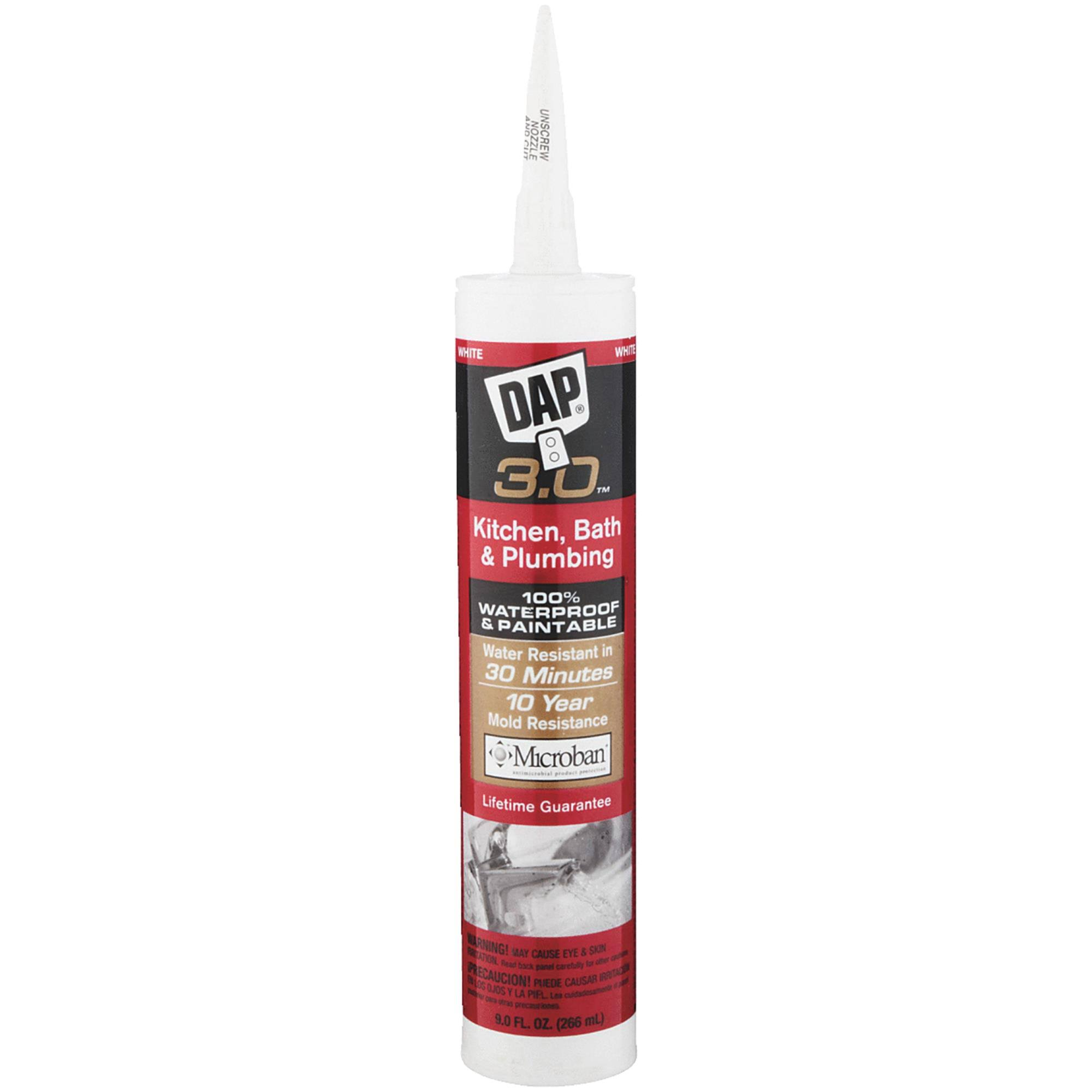 DAP Kwik Seal Kitchen and Bath Caulk - 9.8oz, White