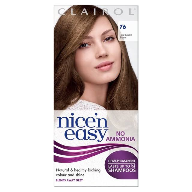 Clairol Nice'n Easy Non Permanent Hair Dye - Light Golden Brown 76
