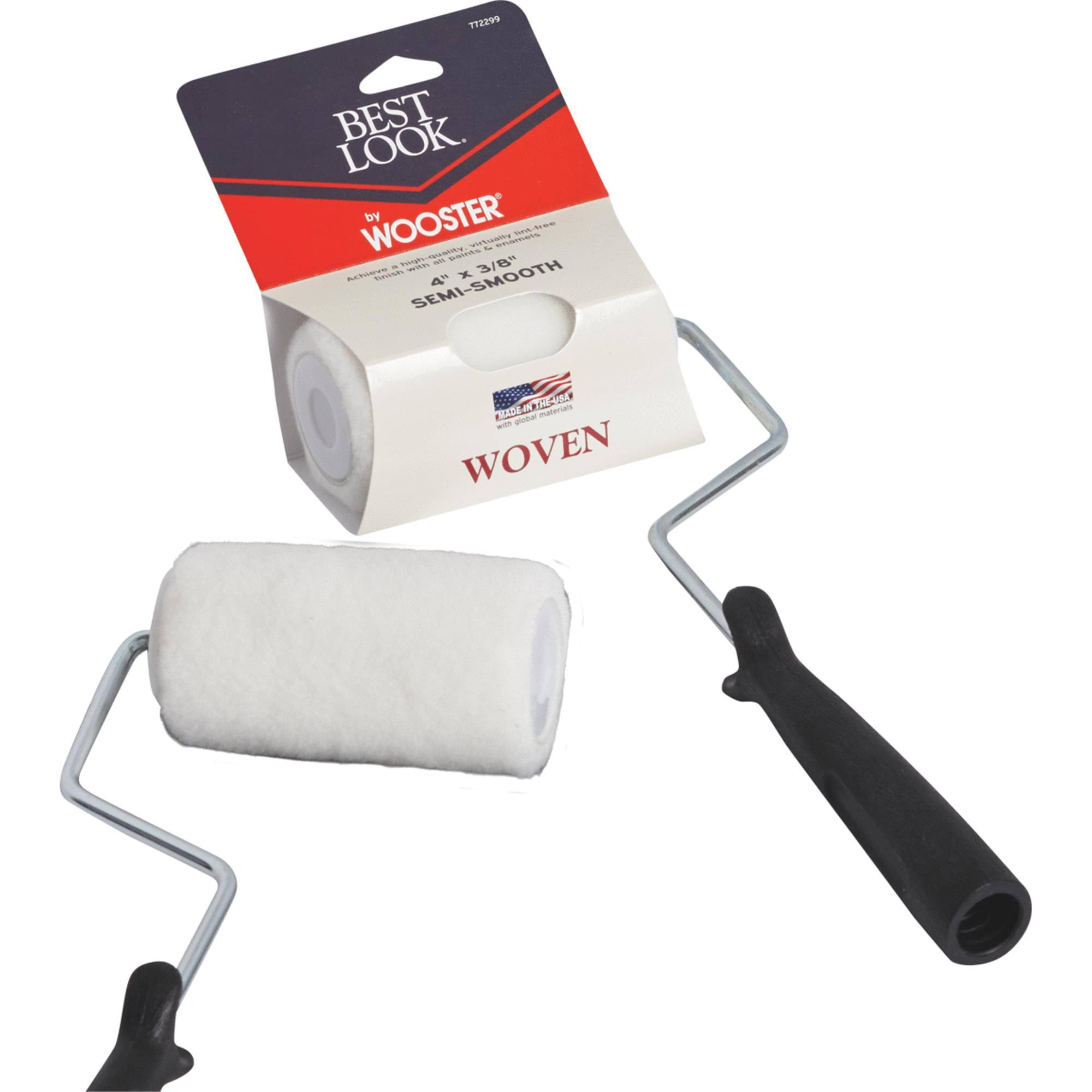 Best Look by Wooster Woven Paint Roller Cover & Frame DR436-4
