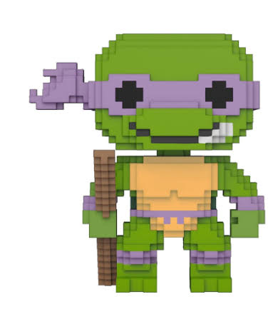 Funko Pop Teenage Mutant Ninja Turtles Vinyl Figure - Donatello, 8bit, 10cm
