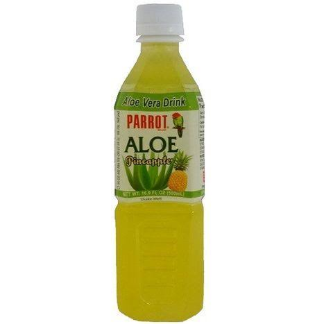 Parrot Aloe Vera Drink, Pineapple - 500 ml