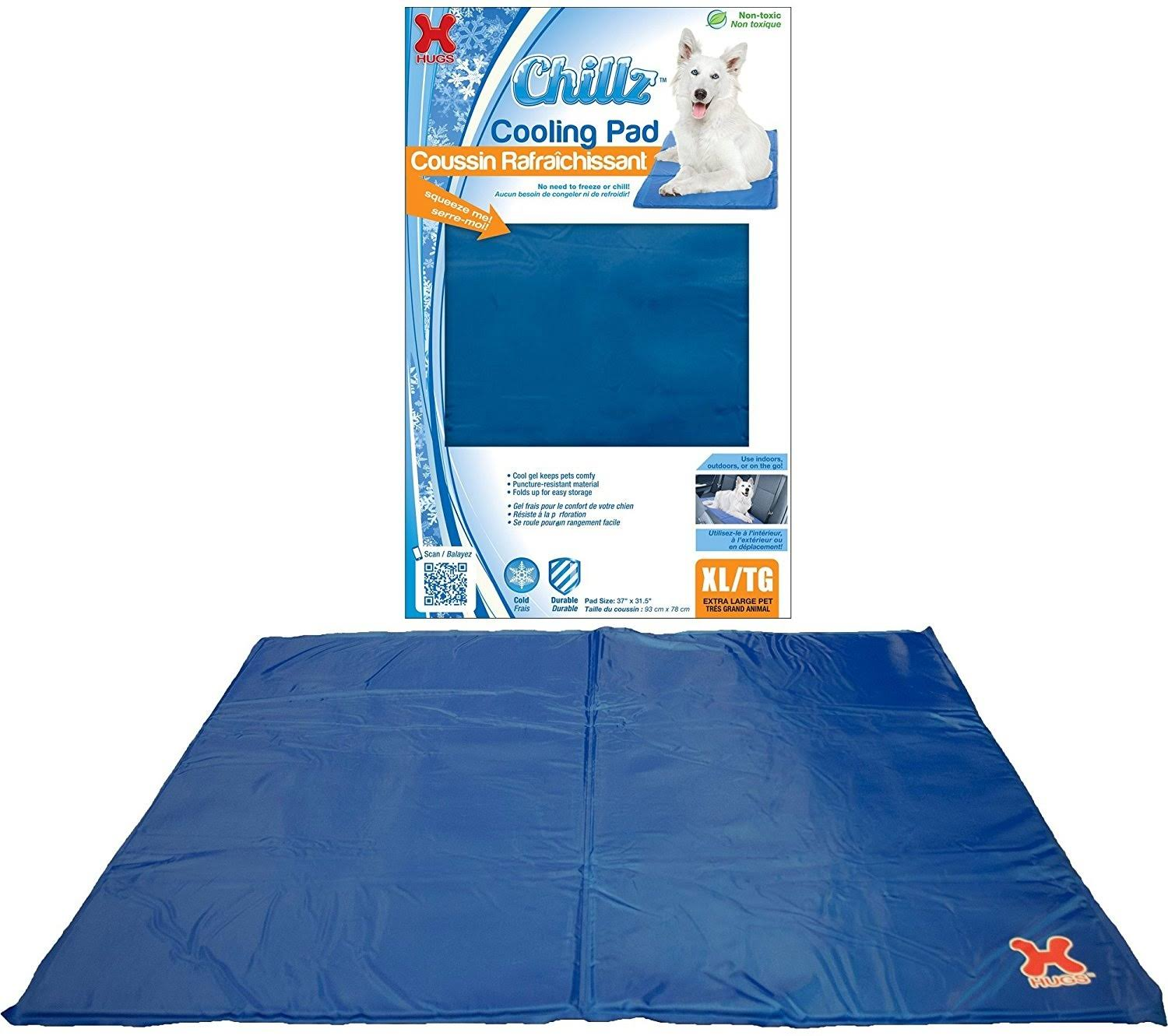 Hugs Pet Products Chilly Mat Comfort Cooling Gel Pet Mat