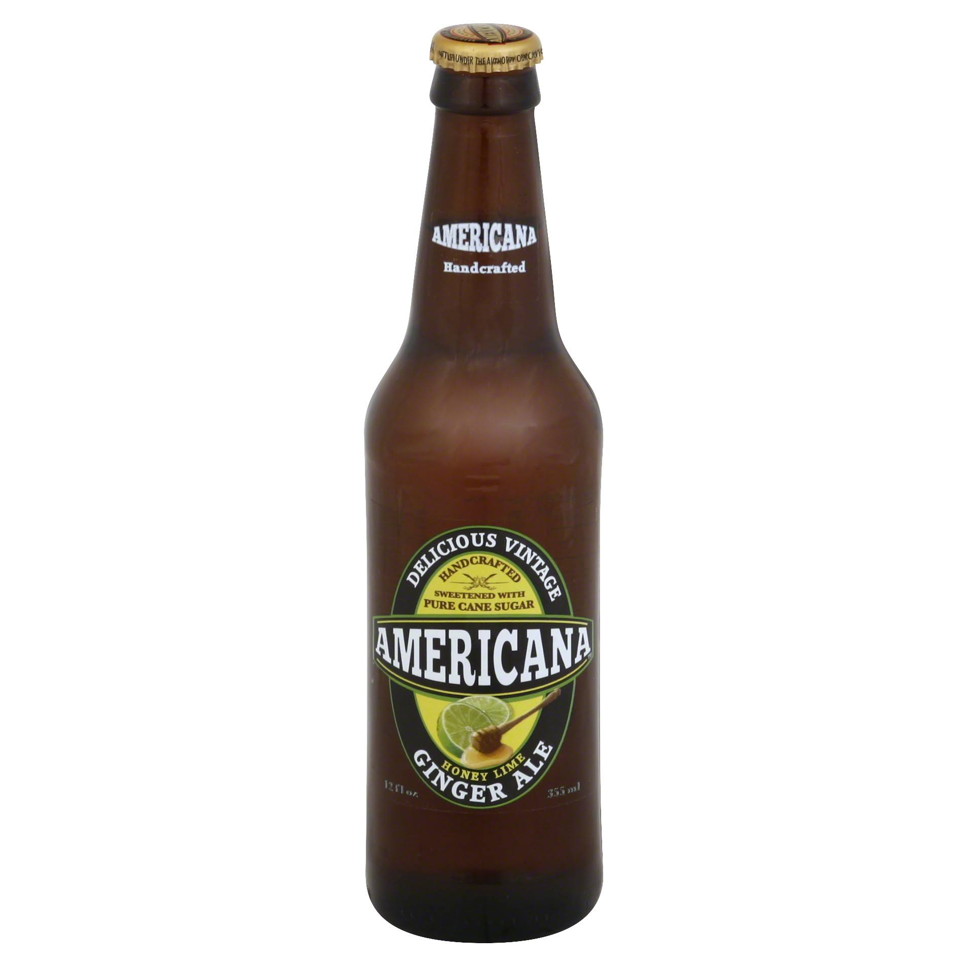 Americana Ginger Ale, Honey Lime - 12 fl oz