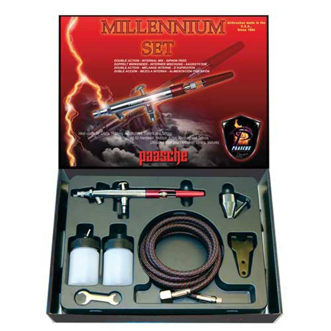 Paasche Mil-Set Double Action Siphon Feed Airbrush Set