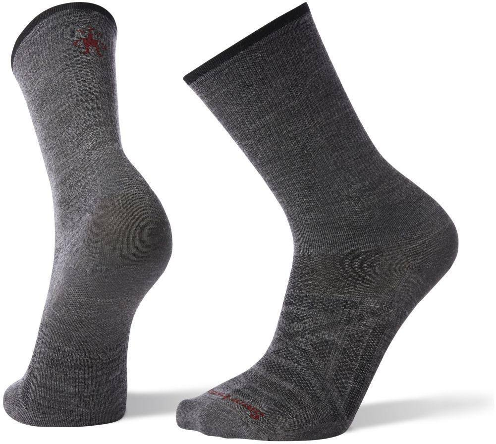SmartWool Mens Ultra Light Crew Socks - Medium, Gray
