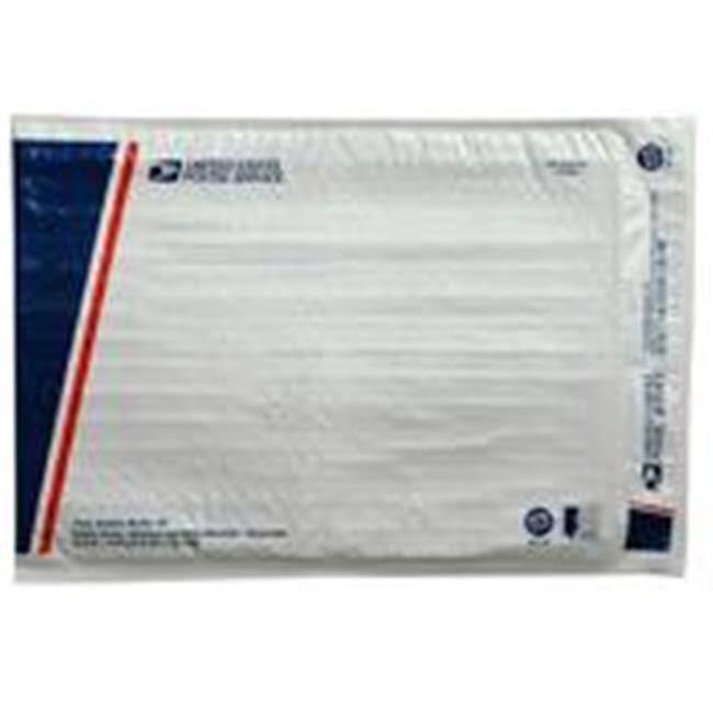"Lepages 81281 10.5"" x 15"" White USPS #5 Poly Bubble Mailer"