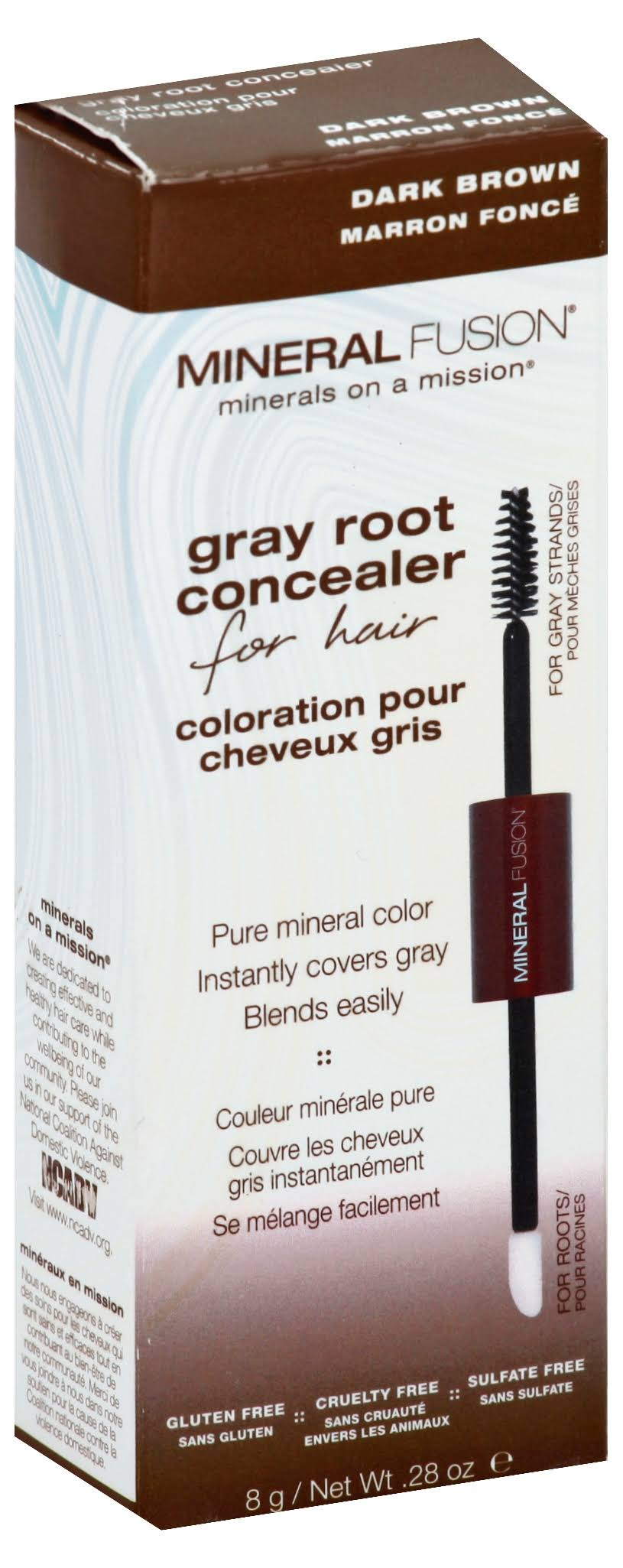 Mineral Fusion Gray Root Concealer - Dark Brown, 8g
