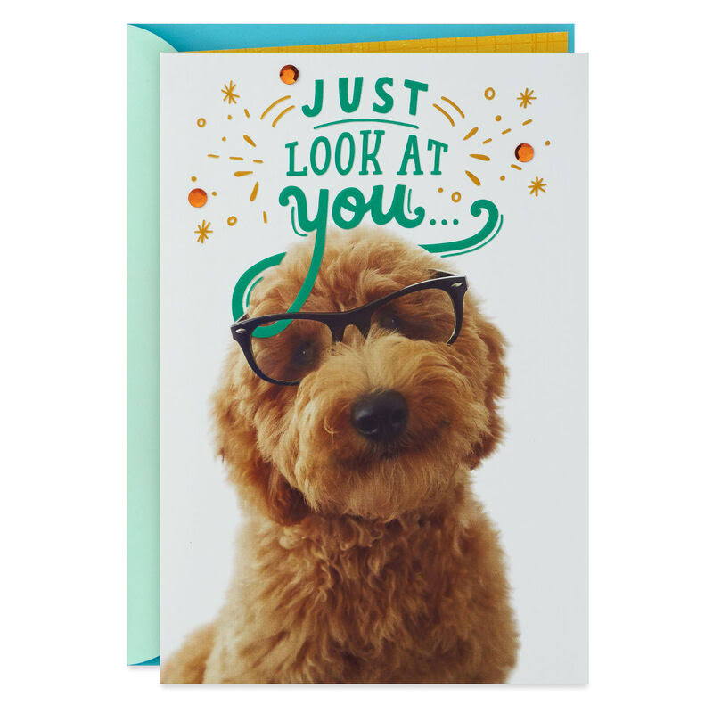 Brainiac Puppy Congratulations Card