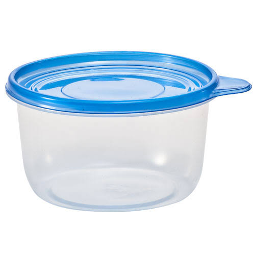 Nicole Home Collection Containers - with Lids, Round, Clear, 25oz, 4ct