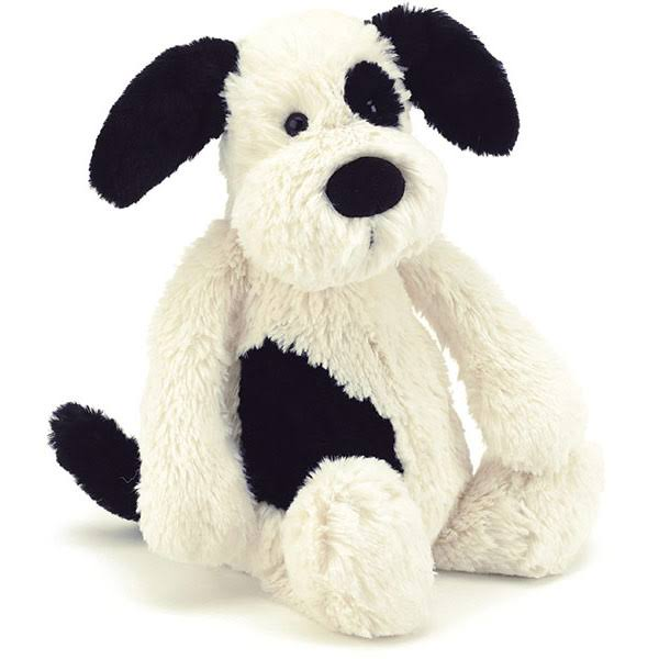 Jellycat Bashful Puppy Soft Toy - Black and Cream, Huge, 20""