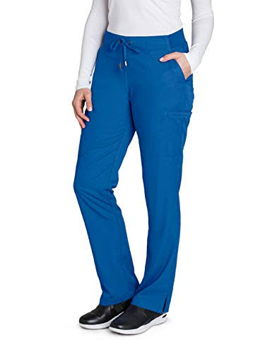 Grey's Anatomy 6-Pocket Tie Front Scrub Pant - New Royal XS Petite
