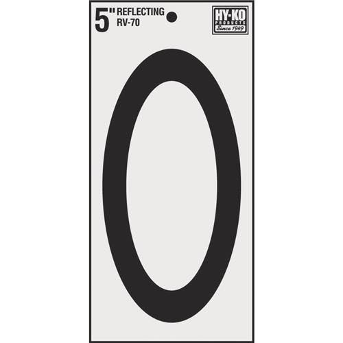 "Hy-Ko Vinyl Reflective House Number - ""0"", 5"""