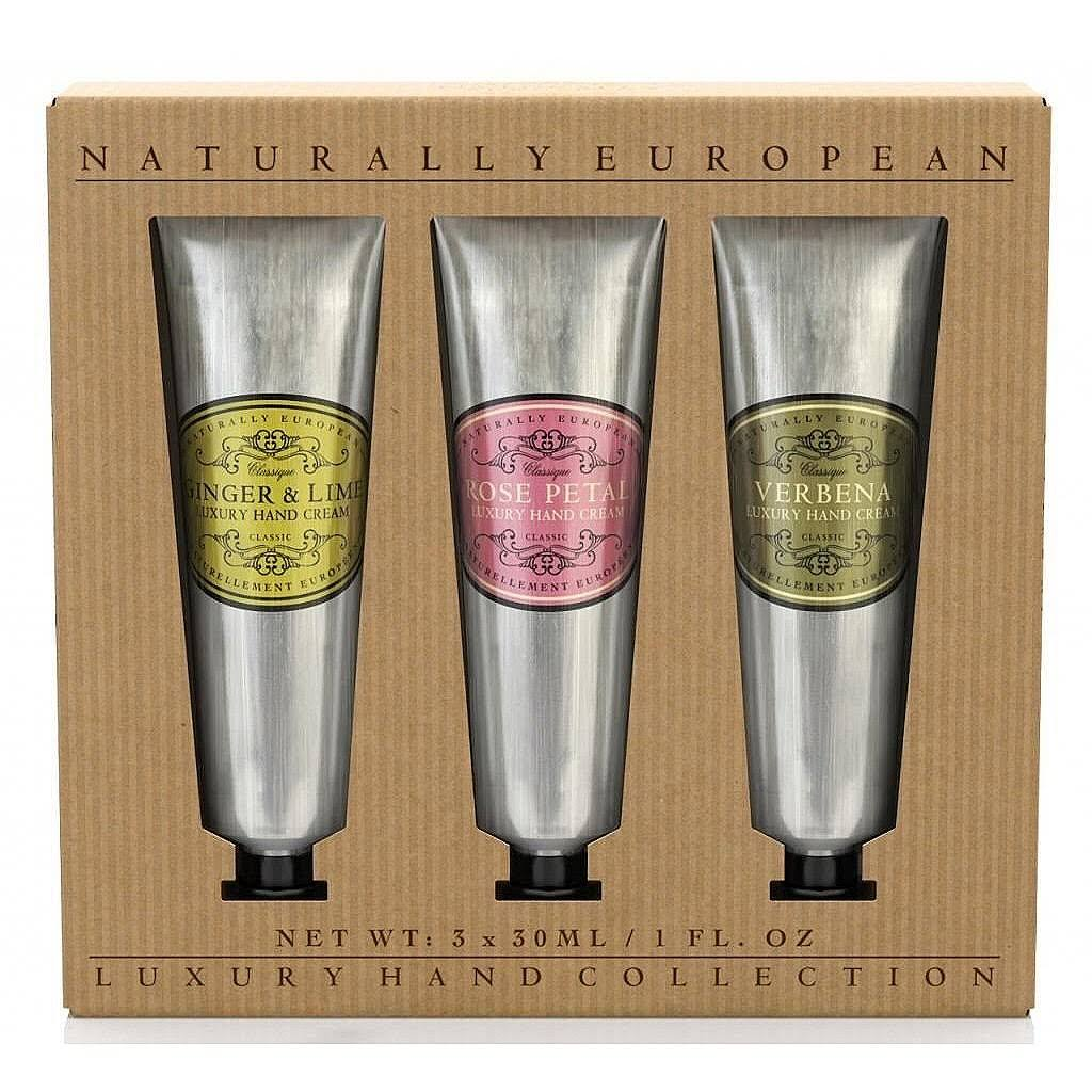 Naturally European Hand Cream Collection Gift Set - 3 x 30ml