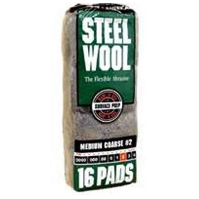The Homax Group Medium Coarse Steel Wool Pad - x16