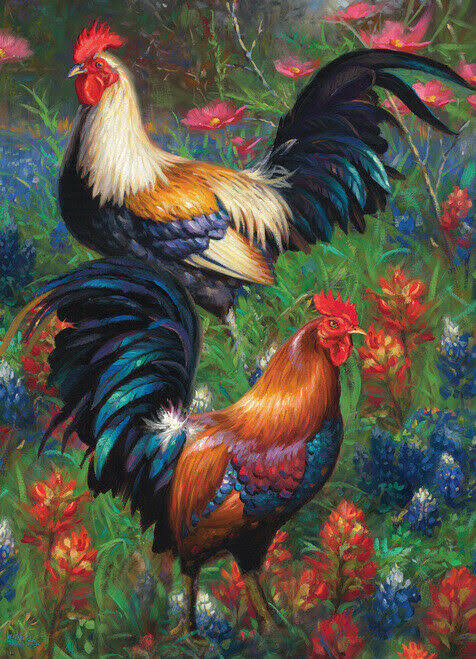 Cobble Hill Roosters Jigsaw Puzzle - 1000pc