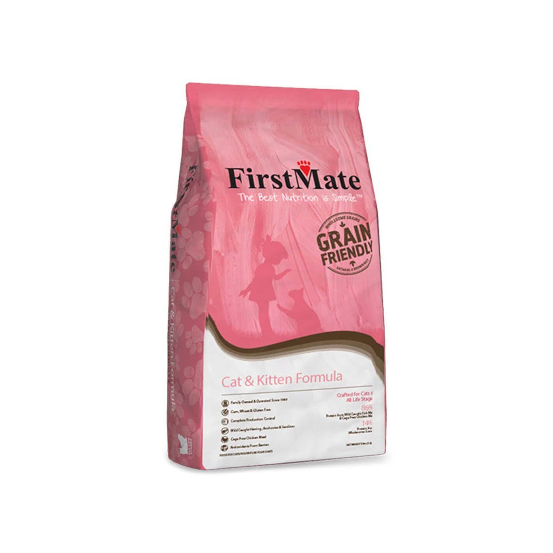 FirstMate Grain Friendly Cat & Kitten 13.2 lb Bag Cat Food