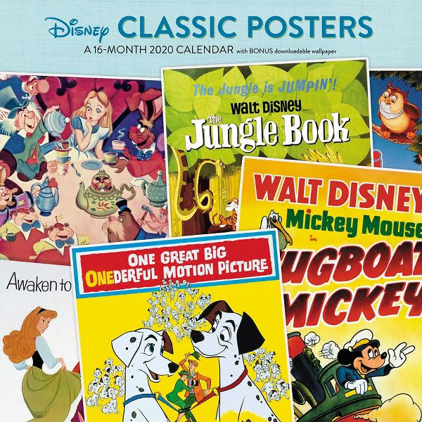 Mead Disney Classic Posters 12x12 Monthly Wall Calendar - Disney