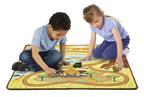 Melissa & Doug Round The Savanna Safari Play Rug