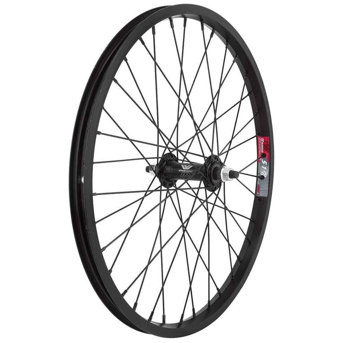 Wheel Master Front Bicycle Wheel - 20 x 1.75, 36H, Alloy, Bolt On, Black